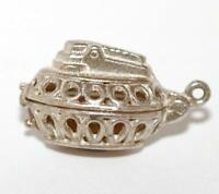 Opening Table Lighter Sterling Silver Vintage Bracelet Charm With Gift Box 4g