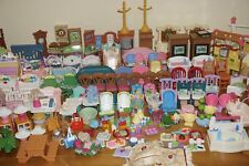 HUGE Fisher Price LOVING FAMILY Dollhouse Furniture Twin Baby Nursery Bath Lot