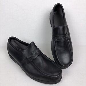 Red Wing Steel Toe Loafer Slip-ons Black Men's Size 12 EE