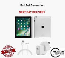 Apple iPad 3 32GB Wi-Fi Black 9.7in Unlocked Grade A, Good Condition Free P&P UK