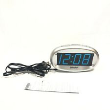 LED Alarm Clock with Dimmer Silver - Sharp