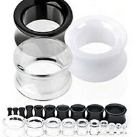 1 Pair Silicone Flesh Tunnel Double Flared Saddle Ear Plug Gauge Piercing Clever