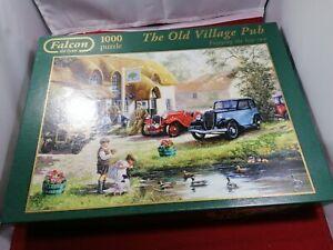 Jumbo Falcon de Luxe 'The Old Village Pub' 1000 Piece Jigsaw Puzzle