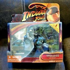 Indiana Jones Last Crusade German Soldier with Motorcycle NIB Rare Play Set 2008