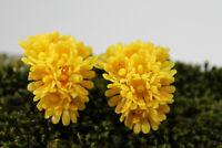 Vintage XXL 70er Statement Ohrringe Ohrclips Blumen Blüten Modeschmuck 60er