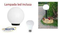 GLOBO SFERA OPACA DA GIARDINO DA 25 CON LAMPADA LED