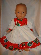 """Rojo Navidad Cupcake Corpiño/Volante Vestido. ajuste muñeca bebé nacido/Annabel 16/18"""""""