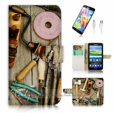 ( For Samsung S5 ) Wallet Case Cover P2443 Tool Box