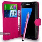 Rose étui porte-feuille Cuir PU Couverture Du Livre Pour Samsung Galaxy S7 Edge
