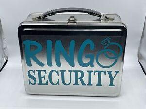 Retro wedding RING bearer BOX Lunchbox - Pillow alternative 7inx9in