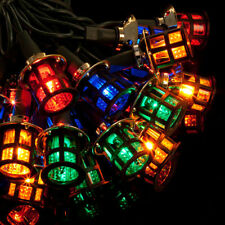 80 LED MAINS MULTI COLOURED LANTERN CHRISTMAS LIGHTS XMAS INDOOR OR OUTDOOR