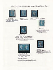 GB. QV. 1841. 2d blue imperforate selection. Flaws/variations.