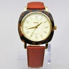 New Fossil ES4281 Idealist Square Dial Brown Leather Strap Women Watch