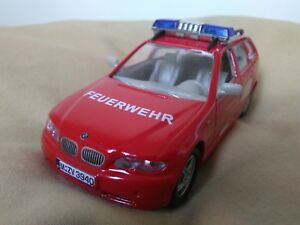 Preciosa miniatura 1:43 BMW Serie 3 Ranchera Bomberos Alemanes. Joy City.