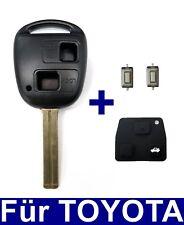 2T Ersatz Schlüssel Gehäuse mit Gummi für TOYOTA Corolla Aygo Lexus +2x Taster