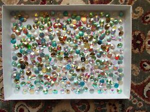 371Pcs. Mixed Colors AB RIVOLI Fancy plastic 12mm clearance.