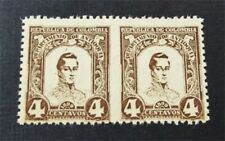 nystamps Colombia Stamp Used Imperf Between Error Pair Rare