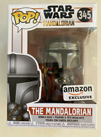 Funko Pop! Star Wars: The Mandalorian #345 Amazon Exclusive W/ Pop Protector