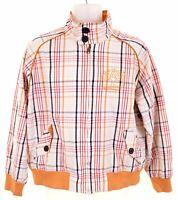 TIMBERLAND Mens Bomber Jacket Size 36 Small White Check Cotton  IX01