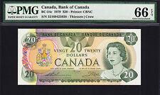 Canada 20 Dollars 1979 BC-54c Pick-93c GEM UNC PMG 66 EPQ