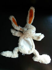 A5- DOUDOU PLAT LAPIN HAPPY HORSE ECRU BLANC ORANGE - EXCELLENT ETAT !