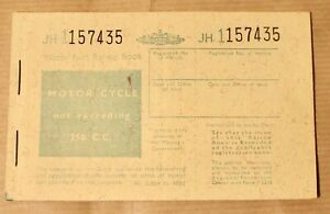Motor Fuel Ration Book Motor Cyles Not Exceeding 250 cc Mint / Unused. 1950's