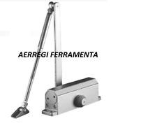 CHIUDIPORTA AEREO TIPO  MAB,FUNZIONE CON FERMO, 2 VALVOLE DI REGOLAZIONE ARGENTO