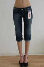 Damen 3/4-Jeans-Hueftjeans-Stretchjeans-Gr-34-NEU-Blue-Bleacheded