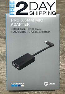Genuine GoPro Pro 3.5mm Mic Adapter for HERO8 /HERO7 / HERO6 BLACK AAMIC-001