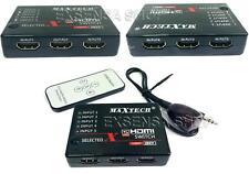 5 PORTE HDMI Switcher interruttore selettore Splitter Hub+1080p a distanza HDTV