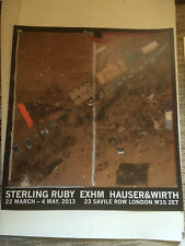 Sterling Ruby, Exhibition Poster, Hauser & Wirth Gallery, 2013