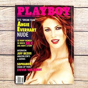 PLAYBOY Magazine February 2000 Angie Everhart Jeff Bezos John McCain & More