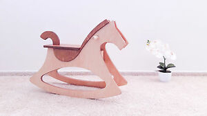 New wooden rocking horse