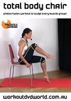 Pilates Fusion EXERCISE DVD - Barlates Body Blitz - TOTAL BODY CHAIR WORKOUT!