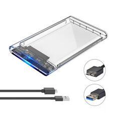 HDD / SSD Case Esterno Trasparente per Hard Disk 2.5 Pollici SATA USB 3.0 HDD
