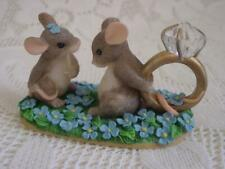 """Charming Tails by Dean Griff """"I Have A Question for You"""" Fitz & Floyd 1998 Blue"""