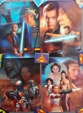 """2002 Star Wars Character Art 10""""x14"""" Poster Set of 4-Signed-FREE S&H(ITCPO-1214)"""