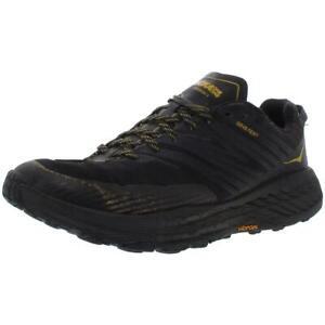 Hoka One One Mens Speedgoat 4 GTX Black Trail Running Shoes 11.5 Medium (D) 6503