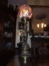 Cherub Lamp With Painted Shade