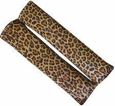 Universal Leopard Print Soft Plush Seat Belt Harness Pad Cover Protector
