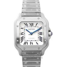 New* White Dial Men's Watch Genuine Cartier Santos de Cartier Wssa0029 *Brand