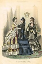 "Arthur's Lady's Home Magazine - ""FASHIONS FOR JANUARY"" - H-Col'd Eng. - 1877"