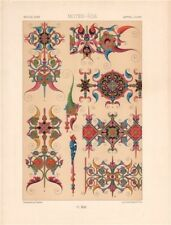 RACINET ORNEMENT POLYCHROME 42 Medieval decorative arts patterns motifs c1885