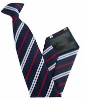 Royal Corps of Transport Regiment Woven Striped Clip On Tie Regimental RCT