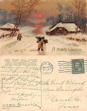 USA - A Merry Christmas Buon Natale SENT TO TEXAS YEAR 1911 (S-L XX440)