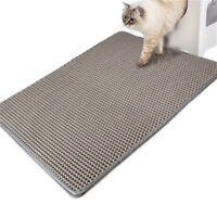 Pet Cat Folding Double-Layer Litter Trapper Mat EVA Mat Bottom Rug Waterproof US