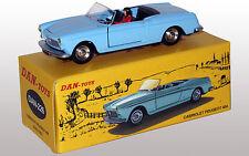 DAN TOYS  Peugeot 404 Cabriolet Bleu Ciel Portes et Capot ouvrants Ref.DAN-226