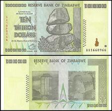 Zimbabwe 10 Trillion, AA/2008, P-88, Circulated, Used, 100 Trillion Series