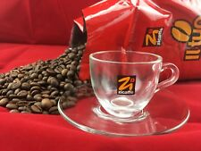 6er Set Zicaffè Bar Espresso Espressotasse Glass mit Untertasse 12teilig