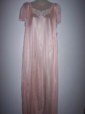 1-X 8797X PEACH 100% NYLON LONG NIGHT GOWN NWT BY MIDNIGHT ROMANCE  #G -582